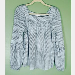 Lauren Conrad Long Sleeve Heart Top